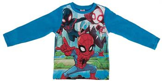 Spiderman Bluse - Str. 86-92 - 100% Bomuld
