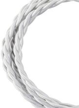 Bailey stoffen kabel gedraaid 2-aderig wit 3m