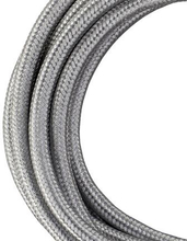 Bailey stoffen kabel 2-aderig metallic zilver 3m