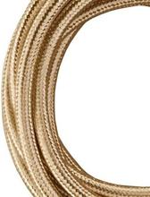 Bailey stoffen kabel 2-aderig metallic champagne 3m