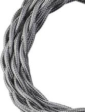 Bailey stoffen kabel gedraaid 2-aderig metallic zilver 3m