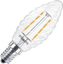 Philips   LED Kaarslamp gedraaid   Kleine fitting E14   2,3W (vervangt 25W)