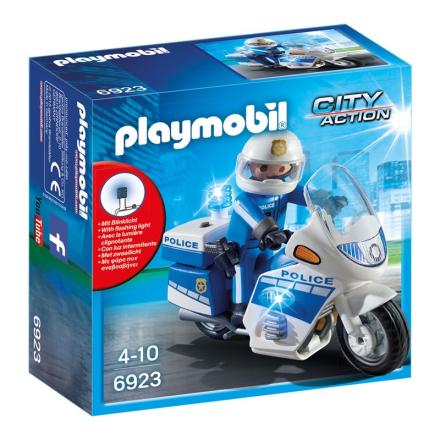 6923, Politi-motorcykel m. LED-lys - Lekmer