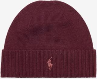 Ralph Lauren, MERINO WOOL-HAT, Rød, Luer för Unisex, One size