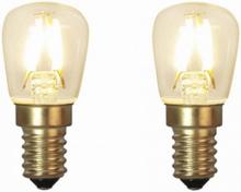 E14 Päronlampa LED 1,3W 2-pack