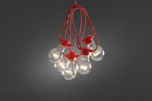 Ljusslinga 10L LED (Röd)