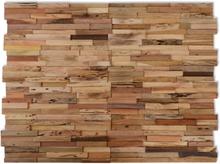 vidaXL Väggbeklädnad 10 st paneler 1 m² återvunnen teak
