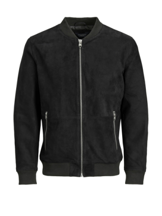 JACK & JONES Luxe Leather Jacket Men Black