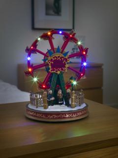 Mekanisk juldekoration karusell LED (Flerfärgad)