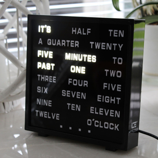 LED Word Clock - Visa tiden med ord