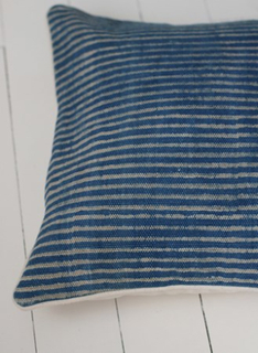 Övriga Kuddfodral Indigo Stripe Blå/Vit randig 50x50 cm