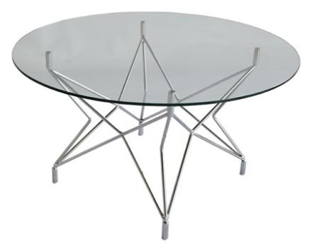 RGE Star Underrede, soffbord, Ø90, krom