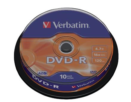 Verbatim 43523 Dvd-r 16 x 10pk spindel