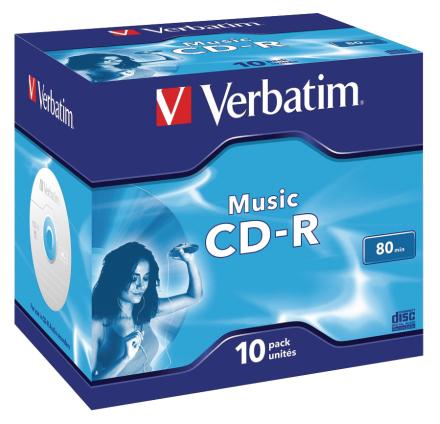 Verbatim musik Cd-r til Audio 80 min. 10 Pack, 43365 (10 Pack)