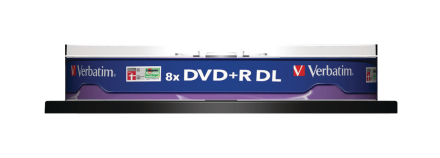 Vm36676 Verbatims Dvd + r 8 x Double Layer Non-printable spindel Pk...