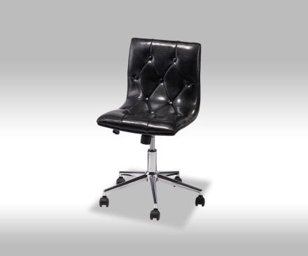 Kelim kontorstol i svart PU kunstskinn.