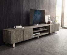 DELIFE TV-meubel Live-Edge 300 cm acacia platinum 4 deuren 2 compartimenten