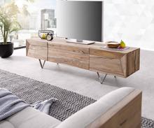 DELIFE Designer-TV-meubel Wyatt 175 cm sheesham natuur 2 Deuren 1 Klep