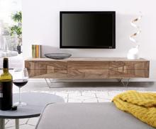 DELIFE Designer TV-meubel Wyatt 175 cm sheesham natuur 3 lades