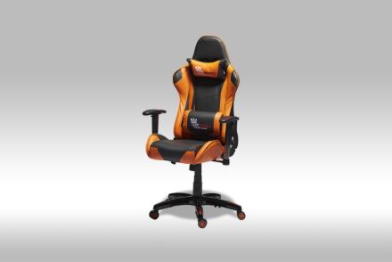Gamer stol Wild kontorstol i oransje og svart PU kunstskinn.