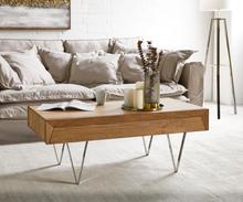 DELIFE Salontafel Wyatt 115x60 cm acacia natuur RVS