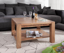 DELIFE Salontafel Indra acacia natuur 80x80 massief hout
