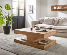 DELIFE Salontafel Liz 123x76 cm natuurlijke acacia met planken