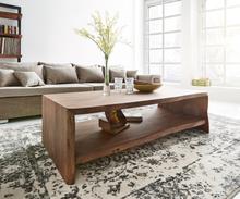 DELIFE Salontafel Live-edge 130x60 cm acacia boomrand