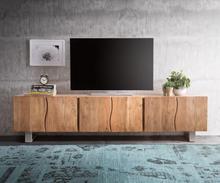 DELIFE TV-meubel Live-Edge 220 cm massief acacia natuur 6 deuren