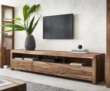 DELIFE TV-meubel Indra 240x45 cm Sheesham Natuur 3 laden 3 vakken