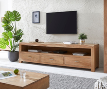 DELIFE TV-meubel Indra 200 cm Acacia natuur 3 lades 1 vak