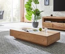 DELIFE Salontafel Indra Acacia natuur 115x55 cm massief hout