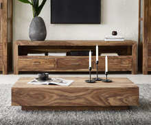 DELIFE Salontafel Indra sheesham natuur 115x55 cm massief hout