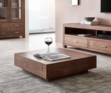 DELIFE Salontafel Indra acacia bruin 80x80 cm massief hout