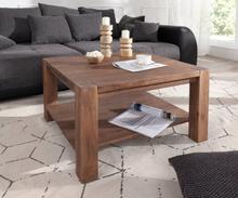 DELIFE Salontafel Indra acacia bruin 80x80 massief hout