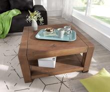 DELIFE Koffietafel Indra acacia bruin 80x80 massief houten plankje