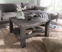 DELIFE Salontafel Indra acacia platinum 80x80 cm massief hout