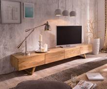 DELIFE Designer-tv-meubel Wyatt 220 cm acacia natuur 4 laden