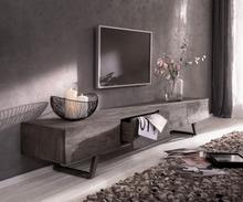 DELIFE Designer-Lowboard Wyatt 220 cm platina 4 laden