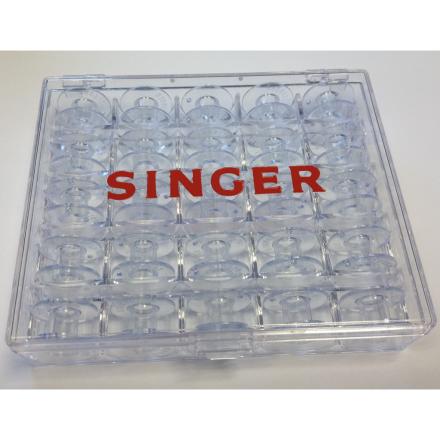 Singer spoleopbevaringskasse med 25 spoler