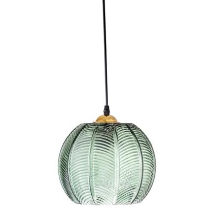 Bloomingville Taklampa Green Glass Ø22xH20 cm