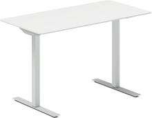 Höj- och sänkbart skrivbord DNA vit 1200x600mm rektangulärt 2 ben/alugrått