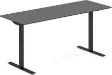 Höj- och sänkbart skrivbord DNA antracit 1600x600mm rektangulärt 2 ben/svart
