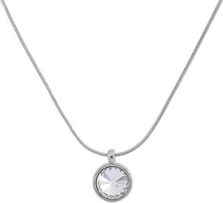 VÅGA smycken, halsband 42 cm rhodium