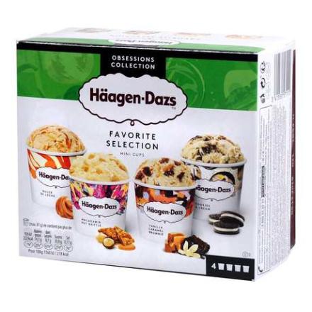 Haagen-Dazs - Favorite Selection zestaw lodów 4x95ml