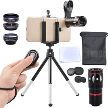 APEXEL APL-JS10X3ZJB 5 in 1 Mobile Camera Lens Kit Telephoto Wide Macro Fisheye