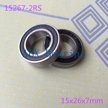 15267-2RS bearing (10PCS) 15x26x7 mm 15267 RS bearing bike wheels bottom bracket repair bearing MR15267 Free shiping 15*26*7mm