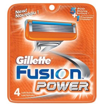 Gillette Fusion Power Partaterät 4 kpl