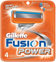 Gillette Fusion Power Barberblade 4 stk
