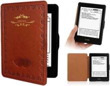 Antgamer Kindle Paperwhite 1 2 3 etuier - PU skinn - Vintage brun
